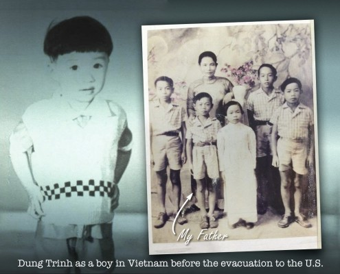 Dung Trinh as a boy in Vietnam, before the evacuation to the U.S.
