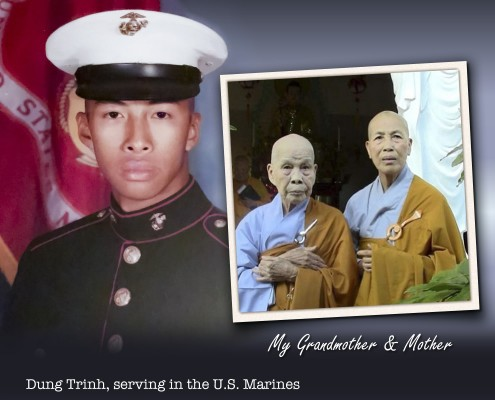 Dung Trinh, MD - while serving in the U.S. Marines
