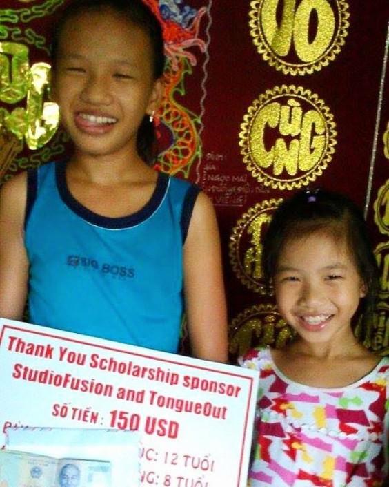 A scholarship thank you!