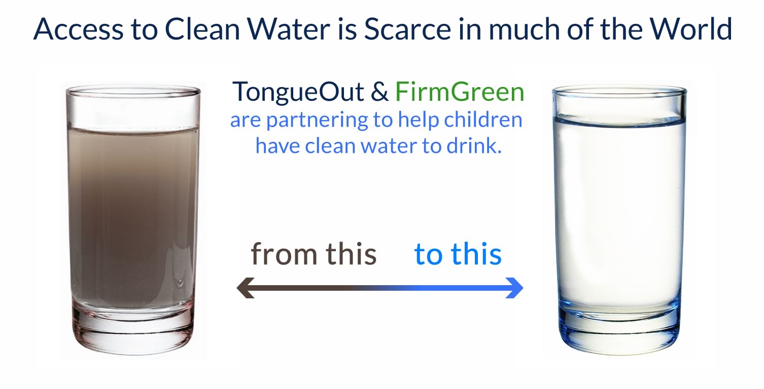 Water And Water Cleaner : Tongueout partners with firmgreen for clean water